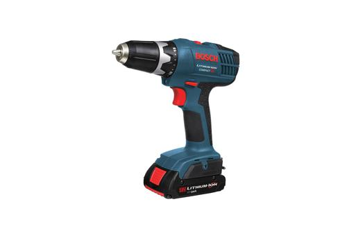 Bosch DDS180 03 18V Compact Tough 1 2 Inch Drill Driver with Accessories 1 FatPack Battery and 1 SlimPack Battery