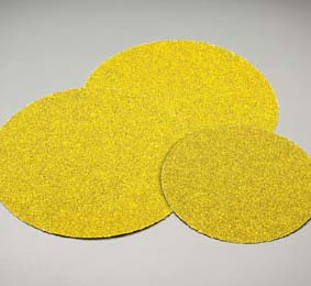 8 Inch Carbo Gold Grip-On 80 Grit Discs
