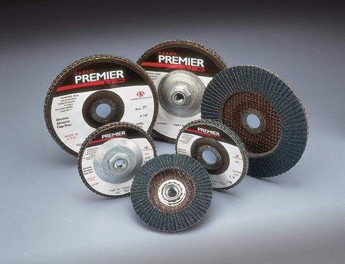 Carborundum Flap Discs with Premier Red Zirconia