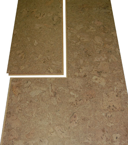 Easy Snap Together Glueless Floating Natural Cork Floors 12 x 36 Inch Planks