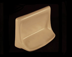 Flatback Soap Dishes with Lipped Edges in a Variety of Colors