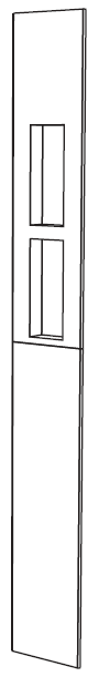 Noble Corner Niche Drawing 2 Shelf