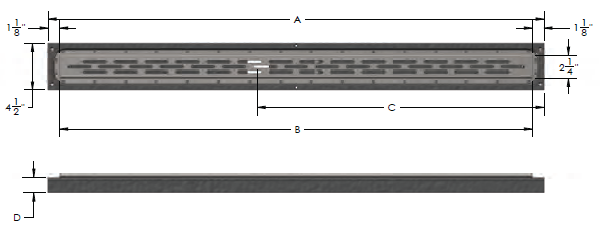Noble Linear Drains Dimensions