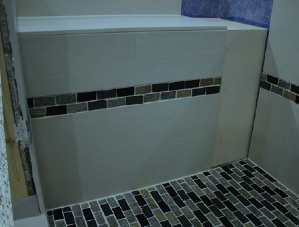Noble Rectangular Bench Tiled