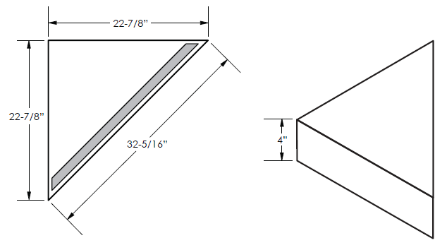 Noble Shelf Bench Dimensions