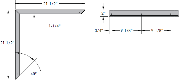 Noble Shelf Bench Frame Dimensions